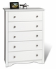 Prepac - Monterey White 5 - Drawer Chest - WDC-3345-K