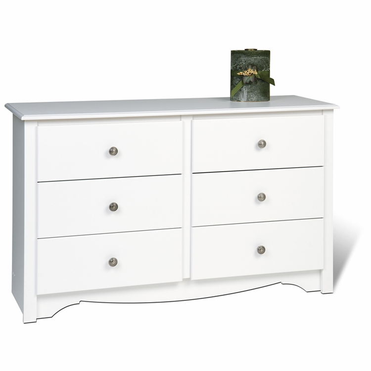 Prepac - Monterey White Youth Sized 6 - Drawer Dresser - WDC-4829