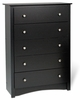 Prepac - Sonoma Black 5 - Drawer Chest - BDC-3345-K