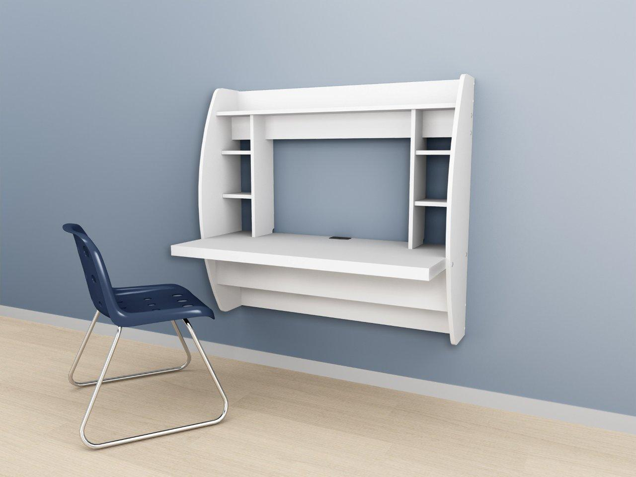 prepac white floating desk with storage wehw 0200 1 10