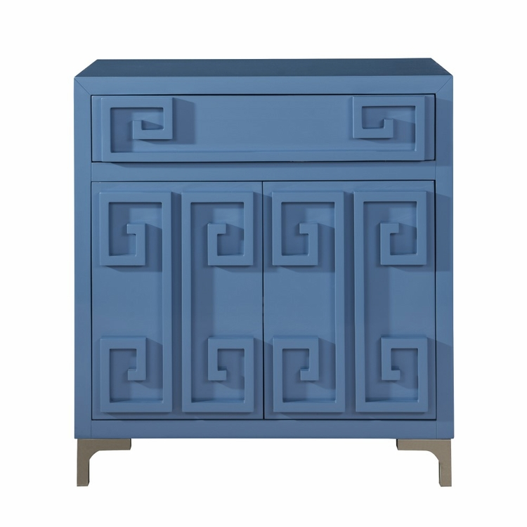 Pulaski - Contemporary High Gloss Blue Two Door Accent Wine Cabinet - DS-D153-035