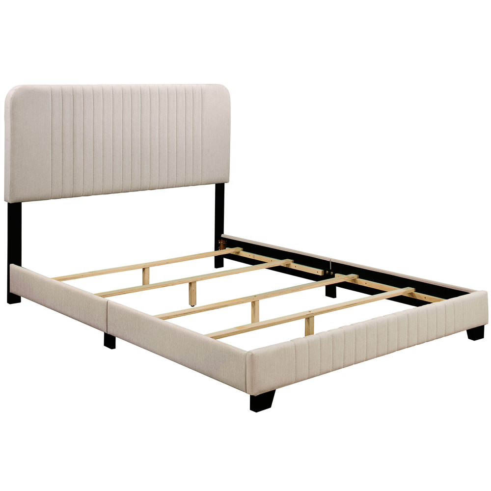 Pulaski Mid Century All In One King Bed With Channeled