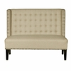 Pulaski - Shelter Back Upholstered Settee In Sateen Hemp - DS-2185-400-433