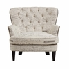 Pulaski - Traditional Button Tufted Upholstered Arm Chair in Paris Script - DS-2522-900-387