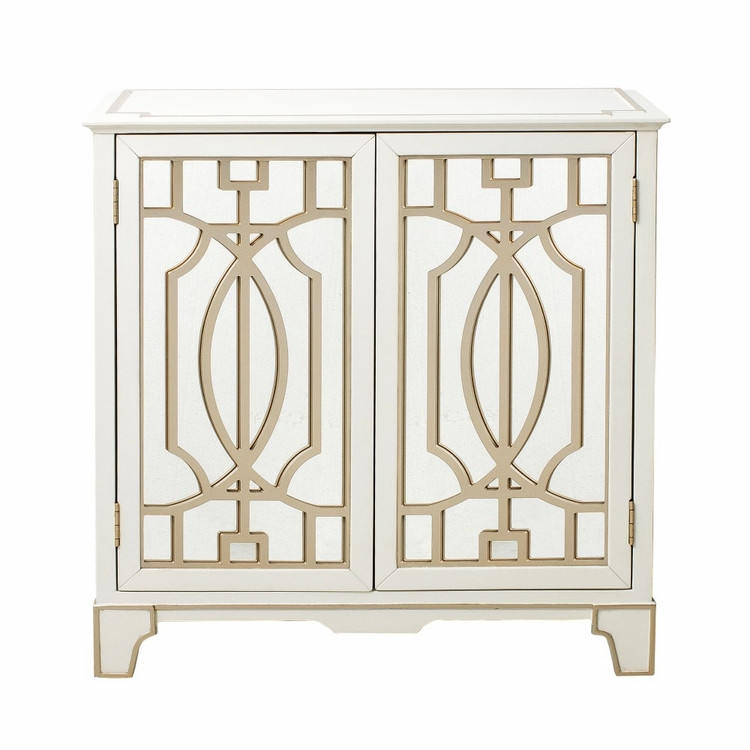 Pulaski - Traditional Mirrored Door Chest with Champagne Gold Overlays - DS-D193-005