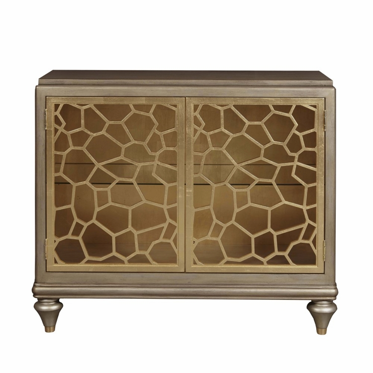Pulaski - Two Door Accent Chest with Pierced Gold Leaf Doors - DS-D199-017
