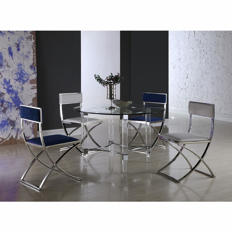 Chintaly - 5 Pieces Dining Set Rectangular Table With 4 Autumn Side Chairs 42X72 Top - 4038-RCT4272-AUTUMN-5PC
