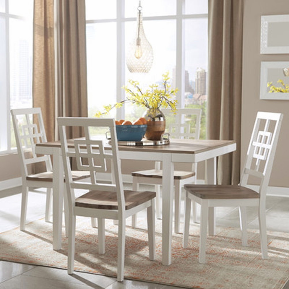 Signature Design by Ashley - Brovada Rectangular Dining Room Table Set  (5-piece) - D298-225