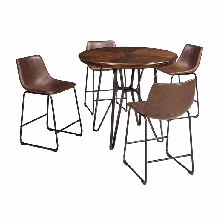 Signature Design by Ashley - Centiar 5-Piece Dining Room Counter Table Set
