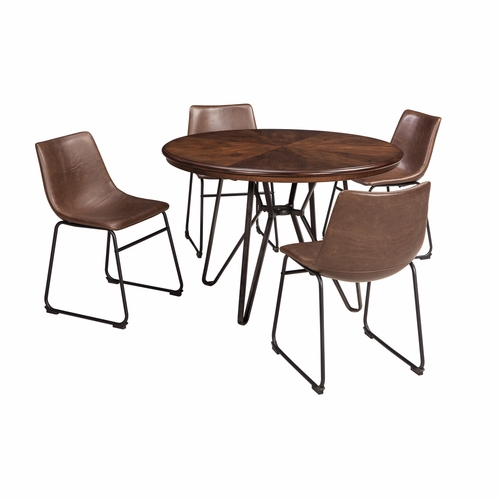 Signature Design by Ashley - Centiar 5-Piece Dining Room Round Table Set