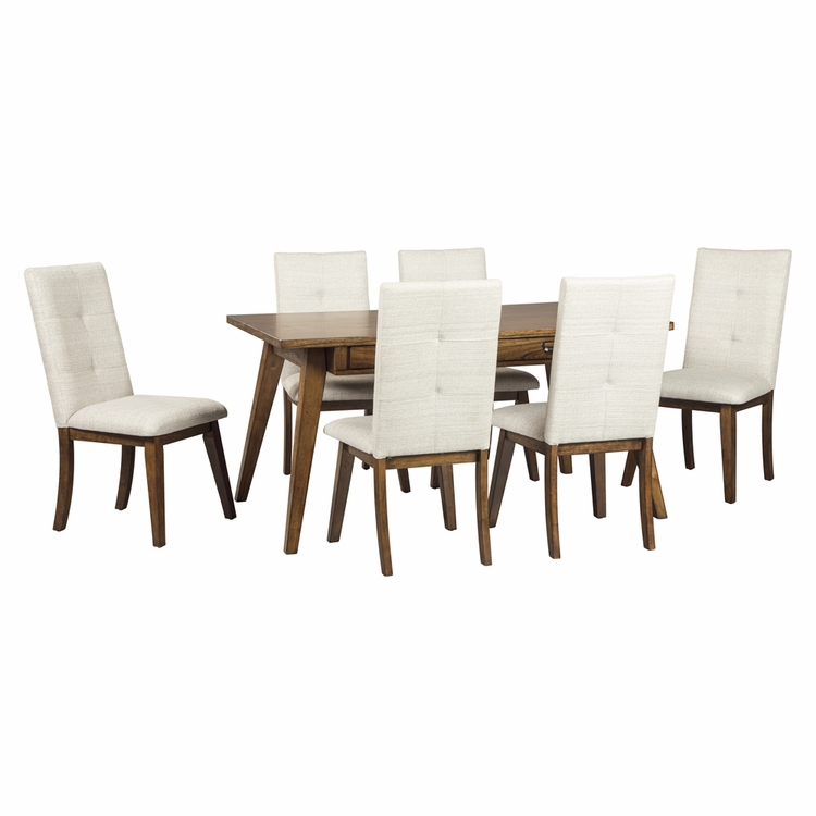 Signature Design by Ashley - Centiar 7-Piece Dining Room Rectangular Table Set