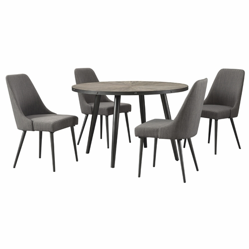 Signature Design by Ashley - Coverty 5-Piece Dining Room Round Table Set