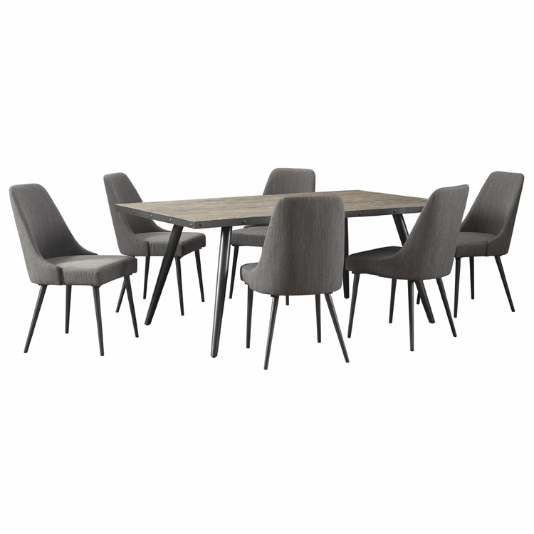 Signature Design by Ashley - Coverty 7-Piece Dining Room Rectangular Table Set