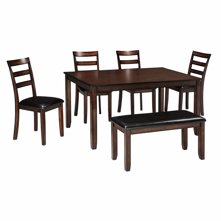 Signature Design by Ashley - Coviar Dining Room Table Set (6/CN) - D385-325