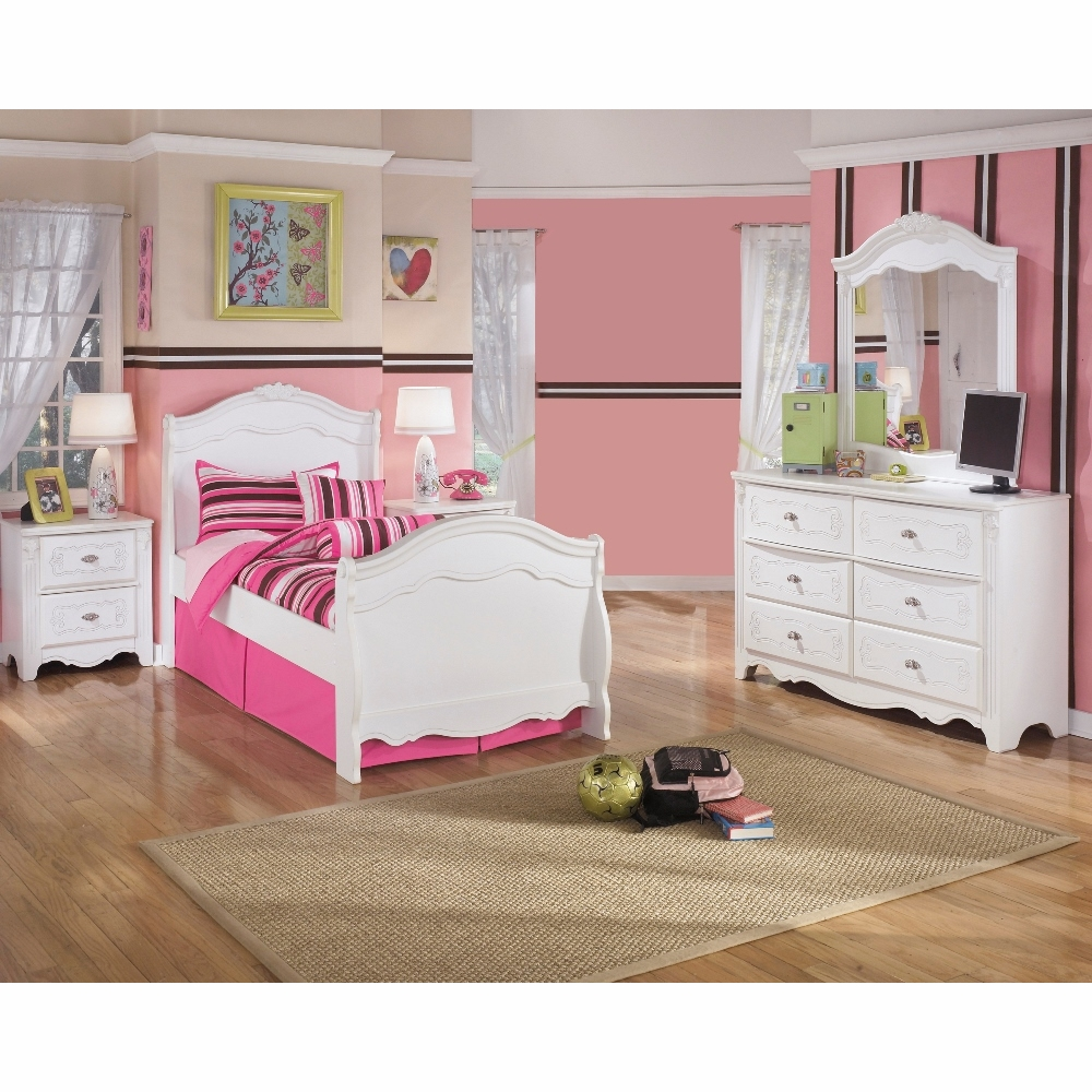 Signature Design By Ashley Exquisite 4 Piece Twin Sleigh Bedroom