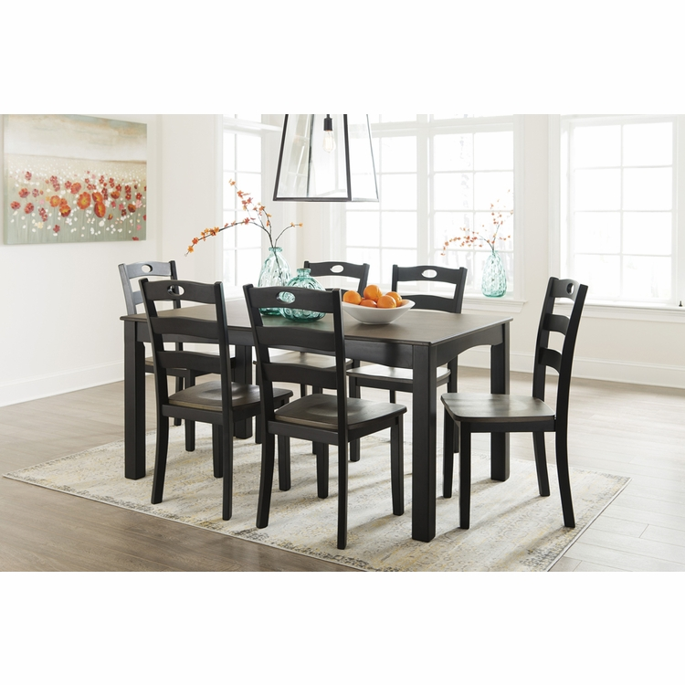 Signature Design by Ashley - Froshburg Dining Room Table Set (7/CN) - D338-425