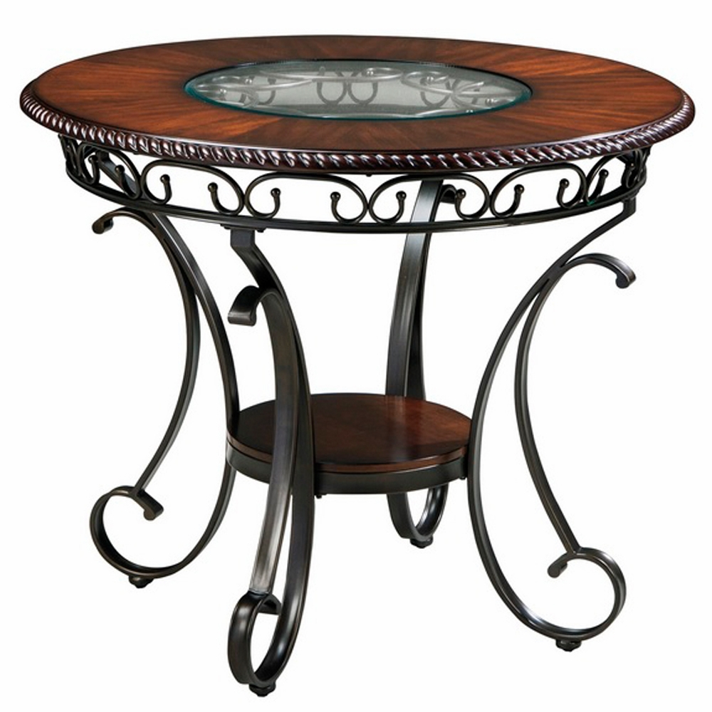Signature Design By Ashley Glambrey Round Dining Table And: Glambrey Round Counter Height