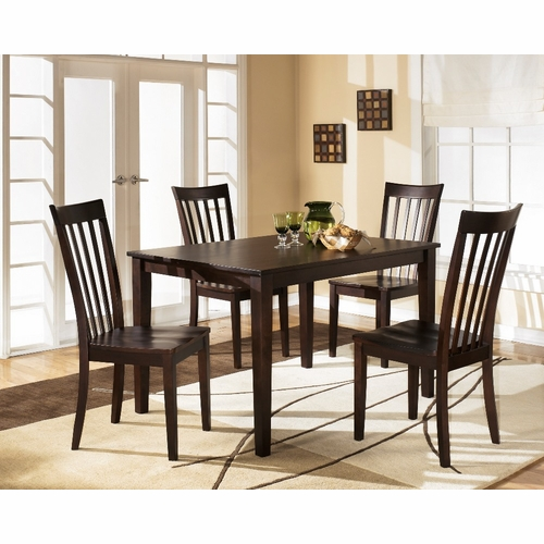 Signature Design by Ashley - Hyland 5-Piece Rectangular Dining Room Table Set - D258-225