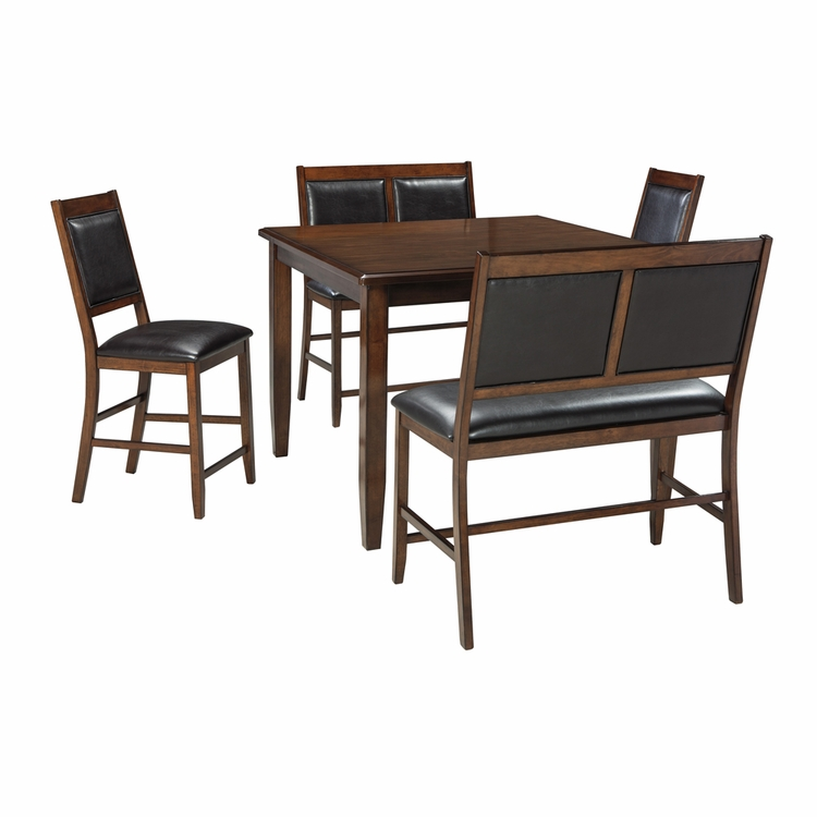 Signature Design by Ashley - Meredy Dining Room Counter Table Set (5/CN) - D395-323