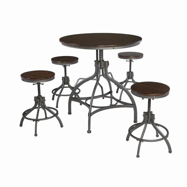 Signature Design by Ashley - Odium Dining Room Counter Table Set (5/CN) - D284-223