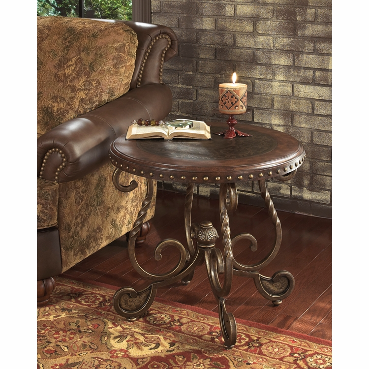 Signature Design by Ashley - Rafferty Round End Table ...