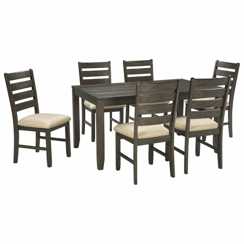 Signature Design by Ashley - Rokane Dining Room Table Set (7/CN) - D397-425