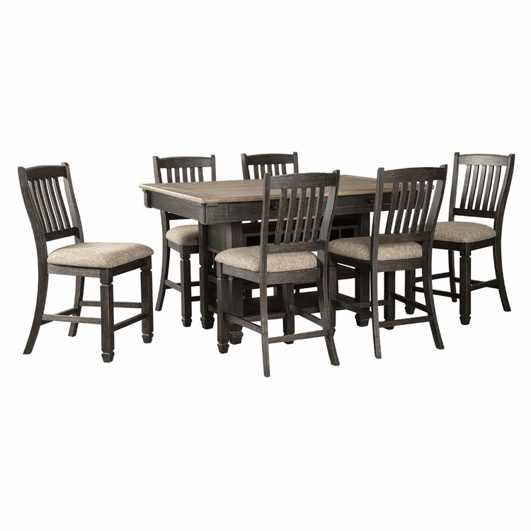 Signature Design by Ashley - Tyler Creek 7-Piece Dining Room Counter Set