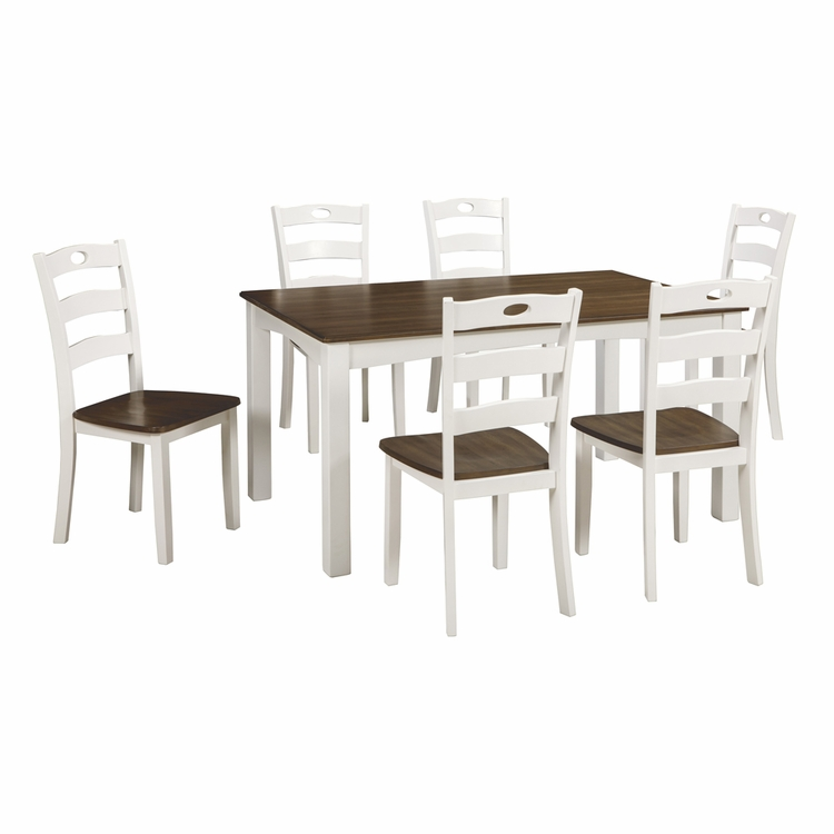 Signature Design by Ashley - Woodanville Dining Room Table Set (7/Cn) - D335-425