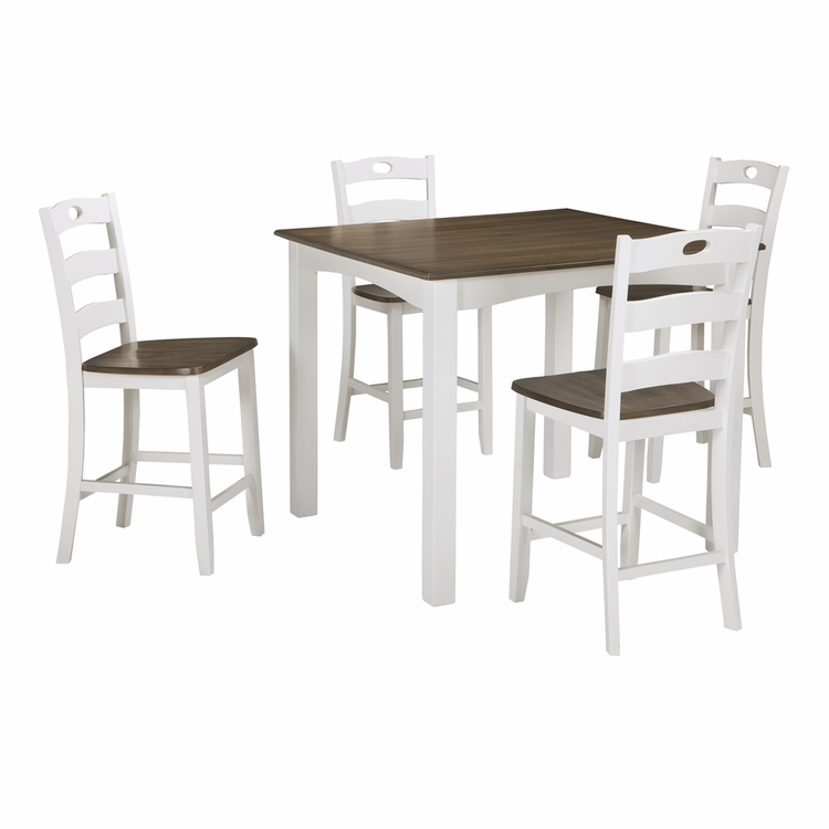Signature Design by Ashley - Woodanville Square Counter Table Set (5/CN) - D335-223