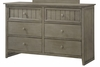 Simmons - Ashland Grey Dresser  - 3016-10