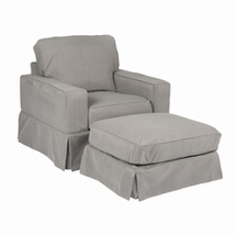 Single Chairs And Ottoman Set by Sunset Trading