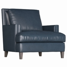 Single Leather Chairs by Bernhardt
