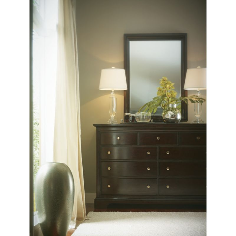 6964e6249b4 Stanley Furniture - The Classic Portfolio Transitional Landscape Mirror in  Polished Sable Finish - 042-13-30