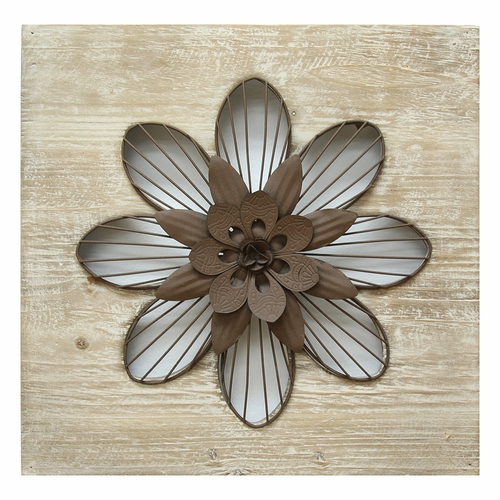 Stratton Home Decor - Rustic Flower Wall Decor  - SHD0189