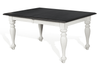 Sunny Designs - Carriage House Extension Dining Table in White & Dark Brown - 1015EC