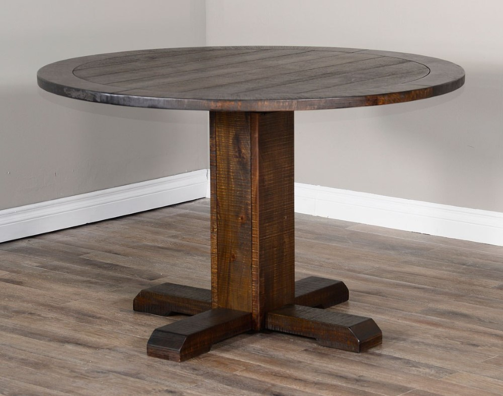 Sunny Designs - Homestead Round Dining Table in Dark Brown ...