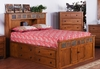 Sunny Designs - Queen Storage Bed with Slate - 2334RO-SQ