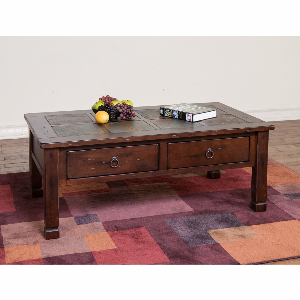 ... Santa Fe Coffee Table W/ Slate Top   3143DC. Hover To Zoom