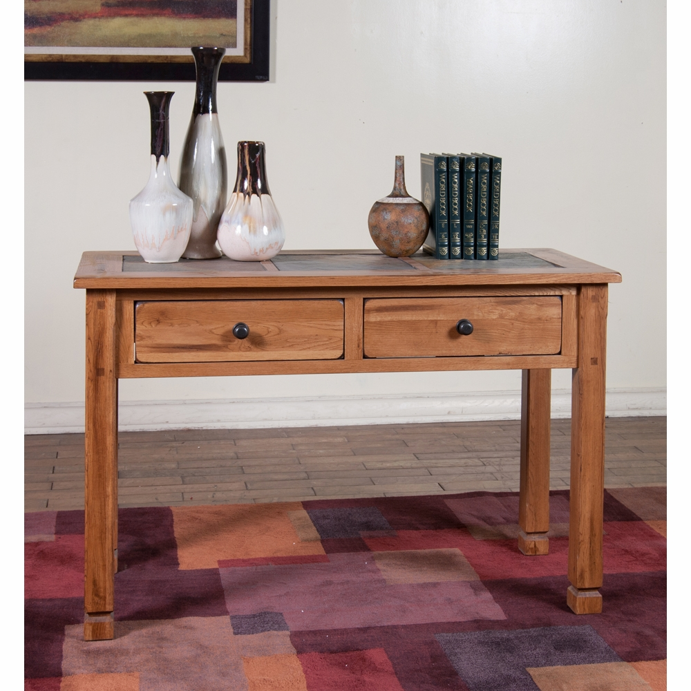 Sunny Designs - Sedona Sofa/ Console Table w/ Slate Top ...