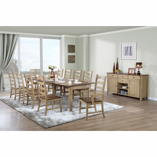 Sunset Trading - 12 Piece Brook Rectangular Extension Dining Set with Sideboard - DLU-BR134-PW12PC