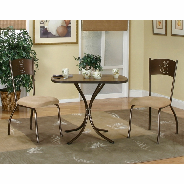 Sunset Trading - 3 Piece Dark Cappuccino Dinette Set   - CR-D8272-65