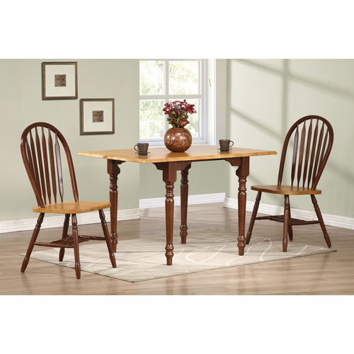 Sunset Trading - 3 Piece Drop Leaf Dining Set with Arrowback Chairs - DLU-TLD3448-820-NLO3PC