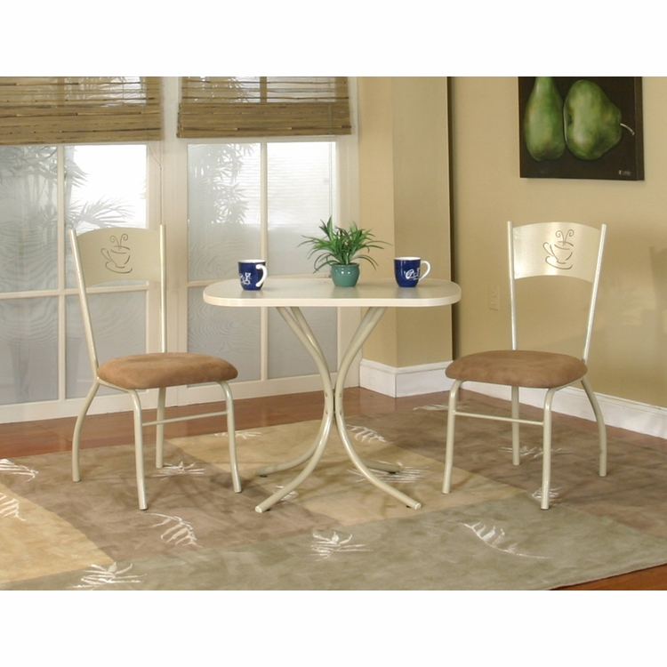 Sunset Trading - 3 Piece Light Cappuccino Dinette Set  - CR-D8466-70