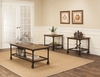 Sunset Trading - 3 Piece Rustic Elm Industrial Coffee Table Set - CR-W3075-90