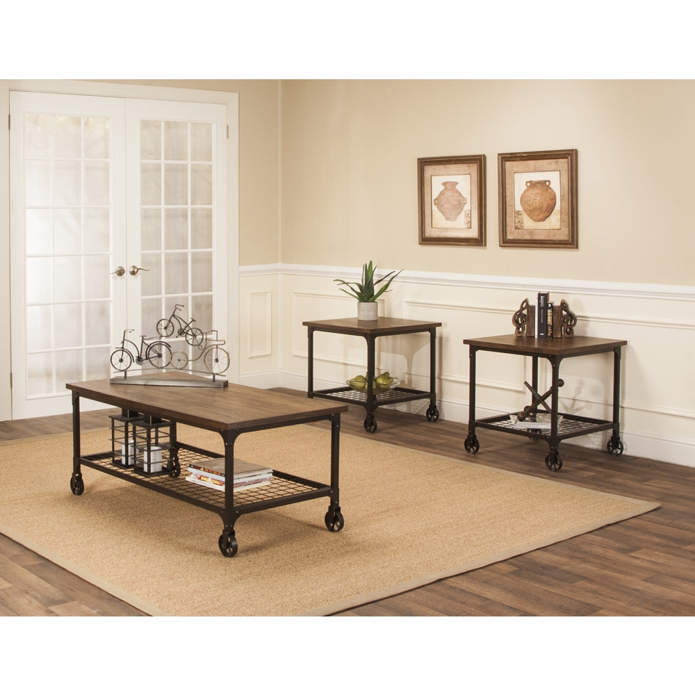 Industrial Rustic Coffee Table Sets 9