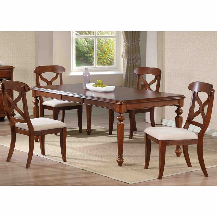 Sunset Trading - 5 Piece Andrews Butterfly Leaf Dining Table Set in Chestnut  - DLU-ADW4276-C12-CT5PC