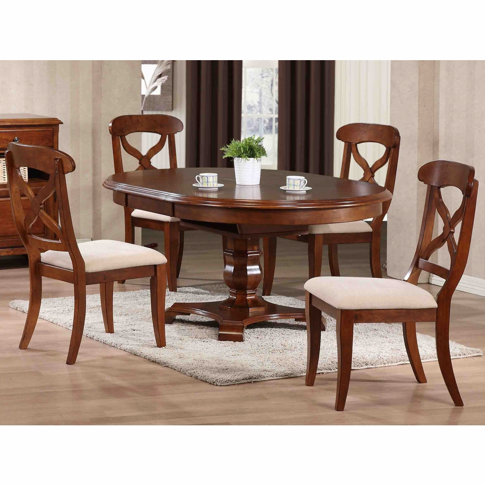 Dining Table With Leaf: 5 Piece Andrews Butterfly Leaf Dining
