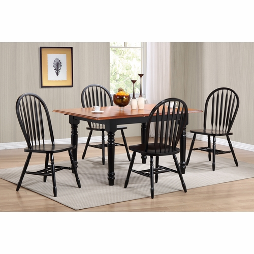 Sunset Trading - 5 Piece Butterfly Leaf Dining Table Set with Arrowback Chairs - DLU-TLB3660-820-AB5PC