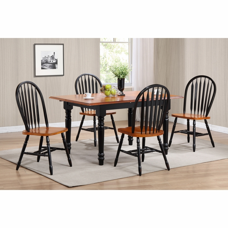 Sunset Trading - 5 Piece Butterfly Leaf Dining Table Set  with Arrowback Chairs - DLU-TLB3660-820-BCH5PC
