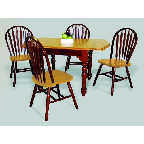 Sunset Trading - 5 Piece Drop Leaf Extension Dining Set with Arrowback Chairs - DLU-TDX3472-820-NLO5PC